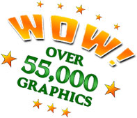 Over 55,000 images in this graphics library.