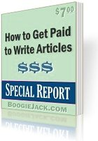 Earn a residual income writing articles.