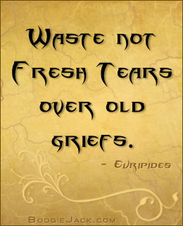 waste no tears picture quote