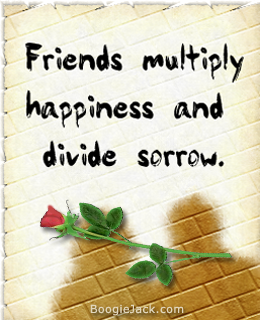 friends multiply happiness picture quote