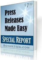Get traffic and links to your site with free press releases.